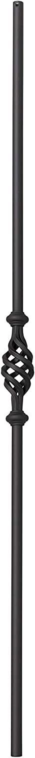 44 x 5//8 Inches Round Single Basket Box of 10 Satin Black 2GR11 Iron Balusters