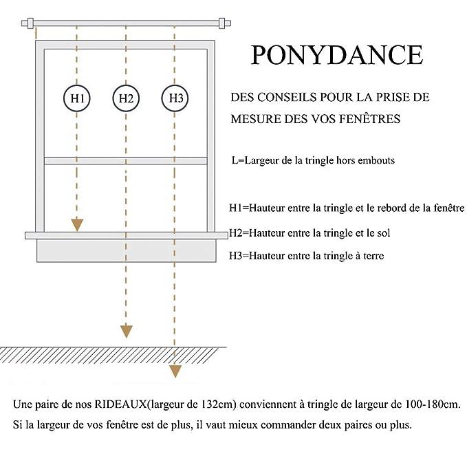 Amazon.de: ponydance zweifarbig Verdunklungsvorhang, mit Ösen, Beige ...