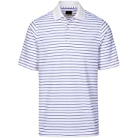 Greg Norman PlayDry Micro Pique Stripe Polo - White/Maritime
