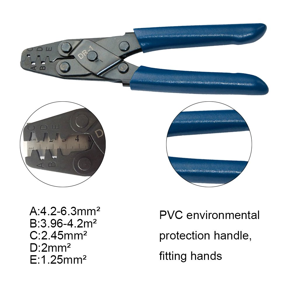 HAPDUX DR-1 Crimping Pliers For Amp, Tyco, Deutsch Conectors,Terminals,Molex, Delphi, Harley, PC/Computer,for AWG22-10 Connector Female Terminal Tool by HAPDUX (Image #5)