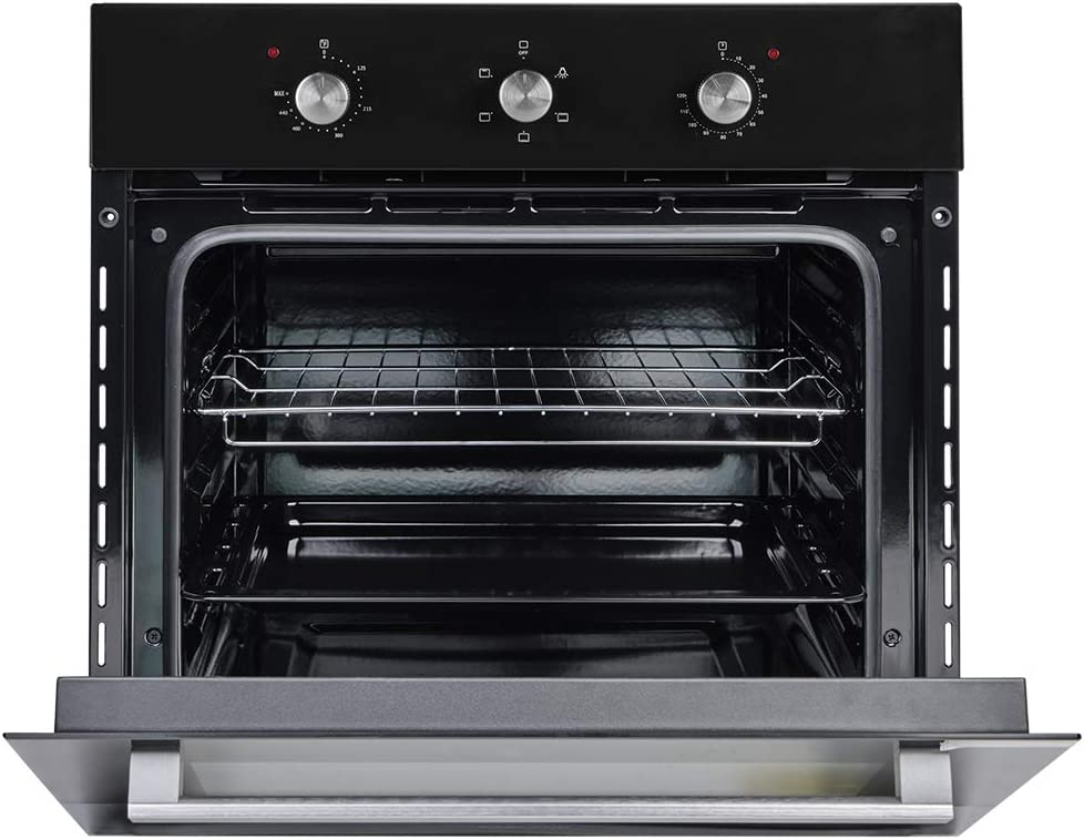 """Wall Oven, GASLAND Chef ES606MB 24"""" Built-in Single Wall Oven, 6 Cooking Function, Full American Black Glass Electric Wall Oven With Cooling Down Fan, 3 Layer GlassETL Safety Certified Easy To Clean"""