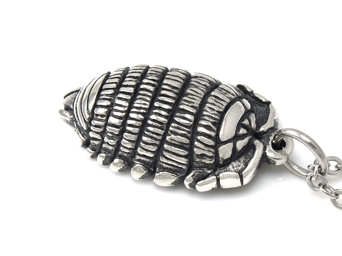 Woodlouse Pendant Necklace Roly-Poly Pill Bug Animal Jewellery in Pewter
