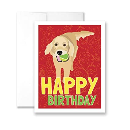 Amazon Com Yohoba Happy Birthday Golden Retriever Birthday Card