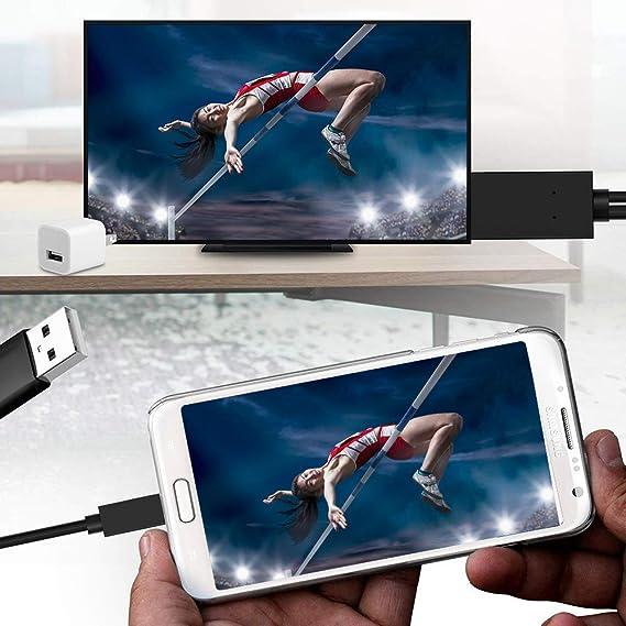 Adaptador de Cable Micro USB a HDMI, convertidor MHL a HDMI con ...