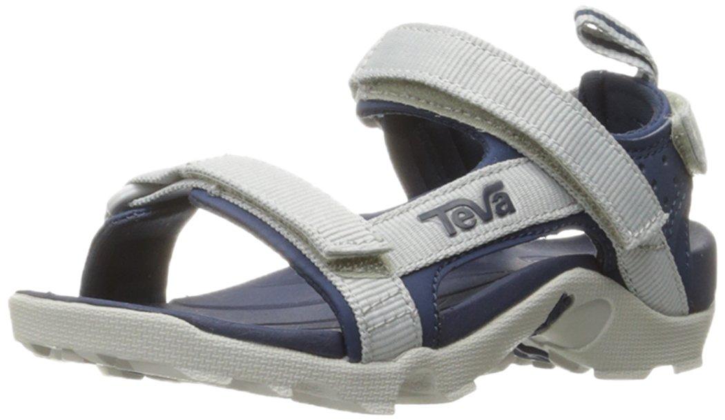 Teva Boys' Tanza Sandal, Grey/Navy, 9 M US Toddler