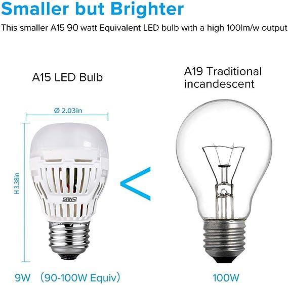 Sansi Ampoule Led E27 9w Equivalence Incandescence 100w Dimmable Ampoule Led Blanc Chaud 3000k 900lm Lot De 4