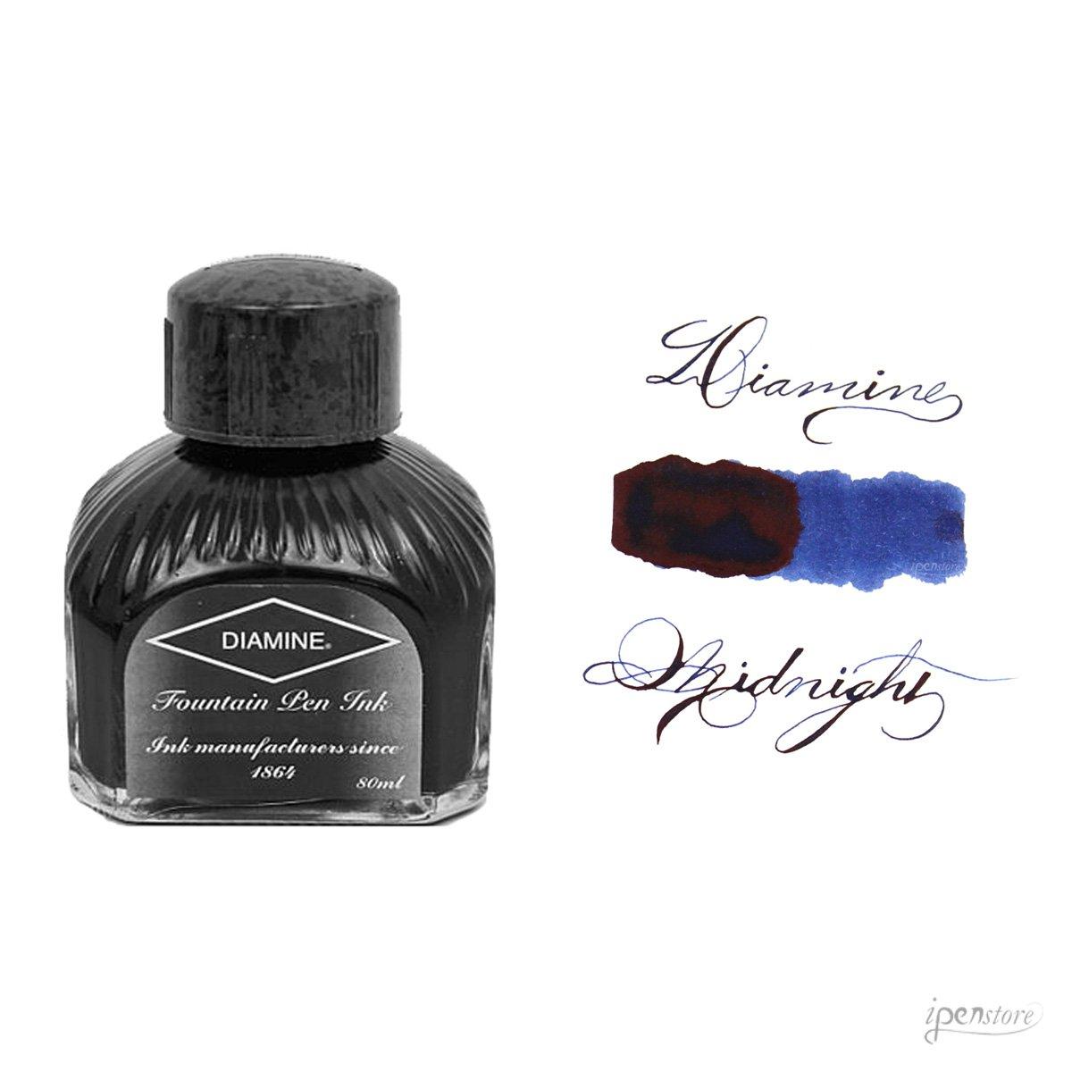 Diamine 80ml Midnight fountain pen ink