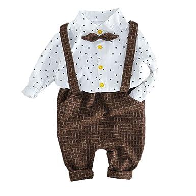 b7e1d1fcb59e5 Robemon✬Hiver Ensemble Bébé Fille Garçon Vêtements Rayé Manches Longues  Chemise Imprimé Étoiles Top +