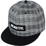 86832de2dc2 BigForest Men Women Plaid Tartan Baseball Cap Hiphop Flatbrim Snapback Hat