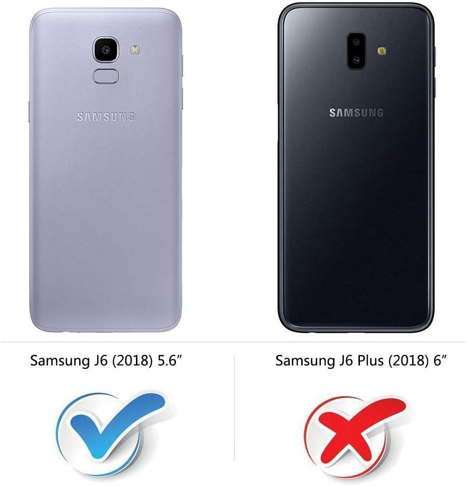 Mulbess Funda para Samsung Galaxy J6, Funda Cartera Samsung Galaxy ...