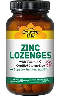 Amazon Com Country Life Zinc Lozenges 23 Mg Plus Vitamin C Lemon