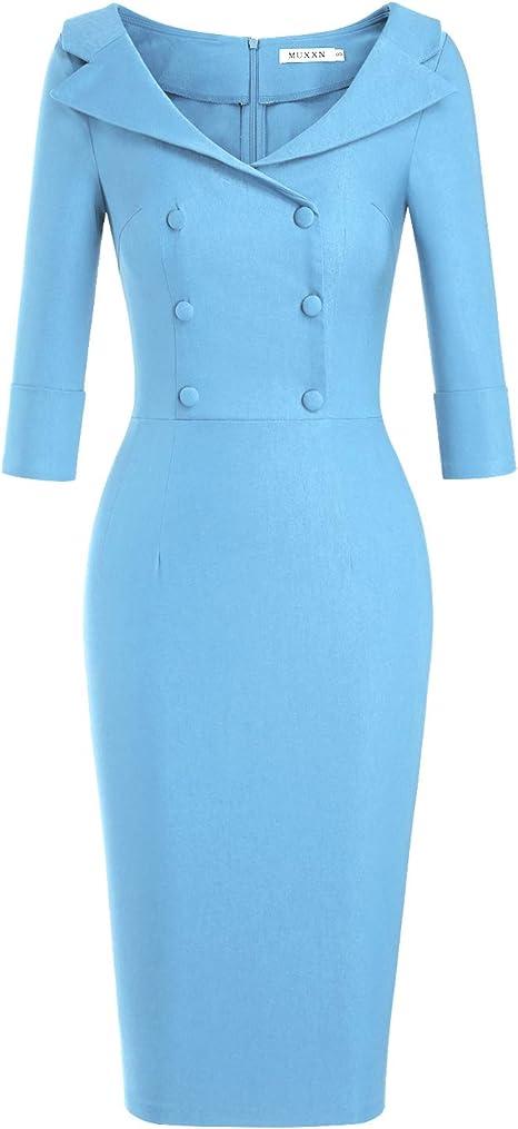 Amazon.com: MUXXN Vestido de cóctel para mujer, clásico ...