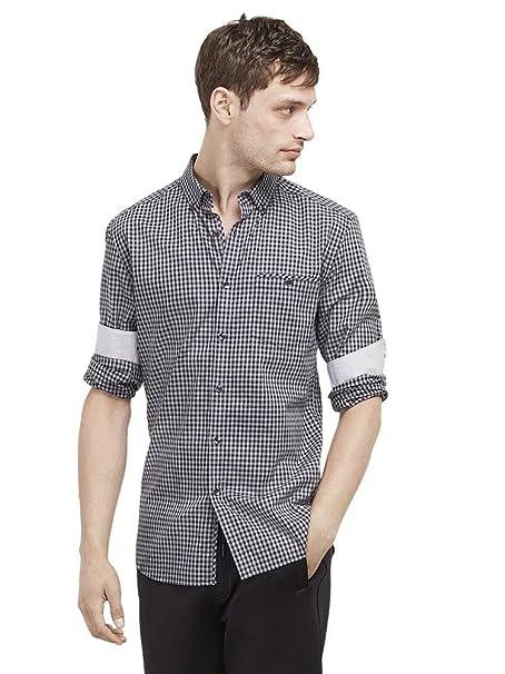 The Mens Store Mens Indigo Heather Button Down Shirt X-Large