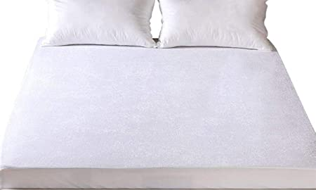 Luxury Waterproof Terry Towelling Mattress Protector Double Size 140 x 190  x 32cms d299c1892