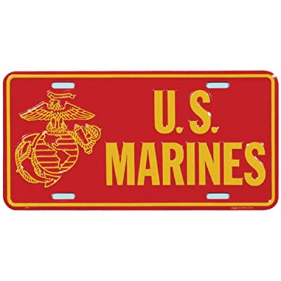 USMC U.S. Marines Globe and Anchor License Plate: Automotive