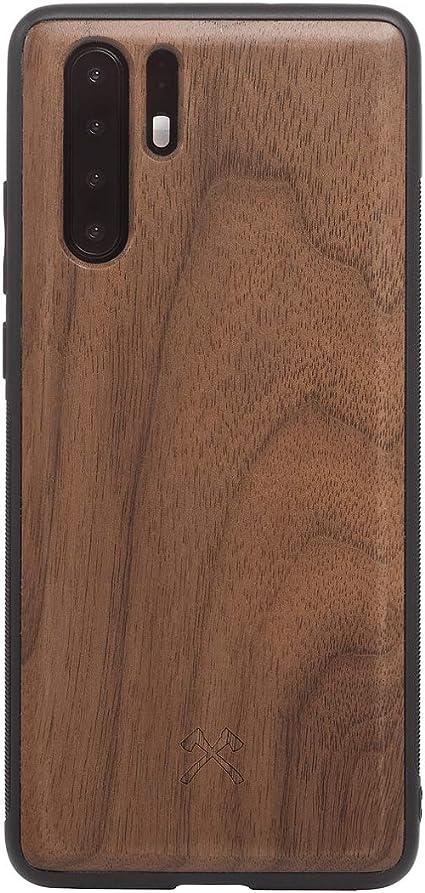 Woodcessories - Custodia, custodia compatibile con Huawei P30 Pro in legno naturale - EcoBump