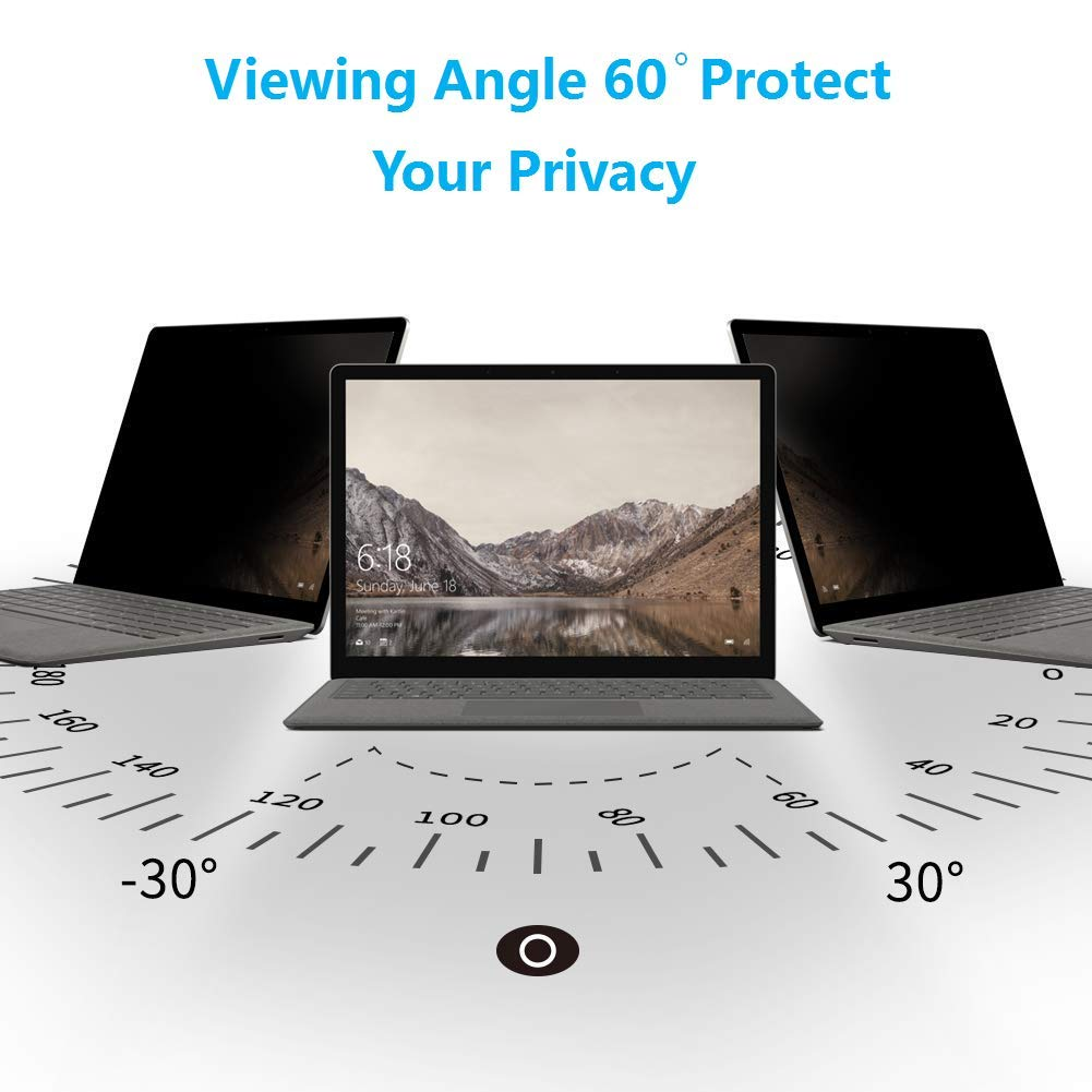 PaceBid Reusable Privacy Filter Compatible with Microsoft Surface Go 10 Inch,Anti Glare//Anti-Spy Protector Film Filter for Microsoft Surface Go 10 Inch