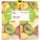 Morrisons Apple Juice from Concentrate, 4x1L Cartons
