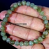 Labradorite Bracelet / Genuine Dark Gray Labradorite Grade AA / Stretch Meditation Bracelet / Yoga Bracelet / Throat Chakra / 6 mm