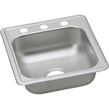 Dayton D117191 Single Bowl Top Mount Stainless Steel Bar Sink