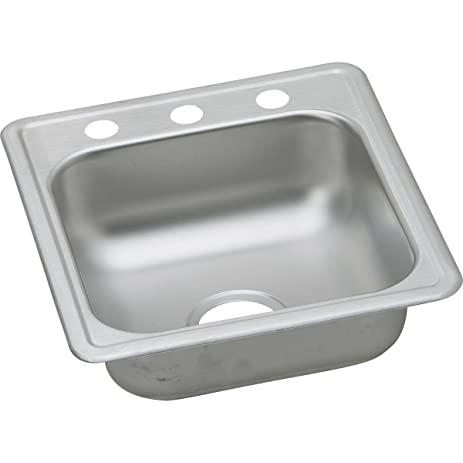 Dayton D117192 Single Bowl Top Mount Stainless Steel Bar Sink