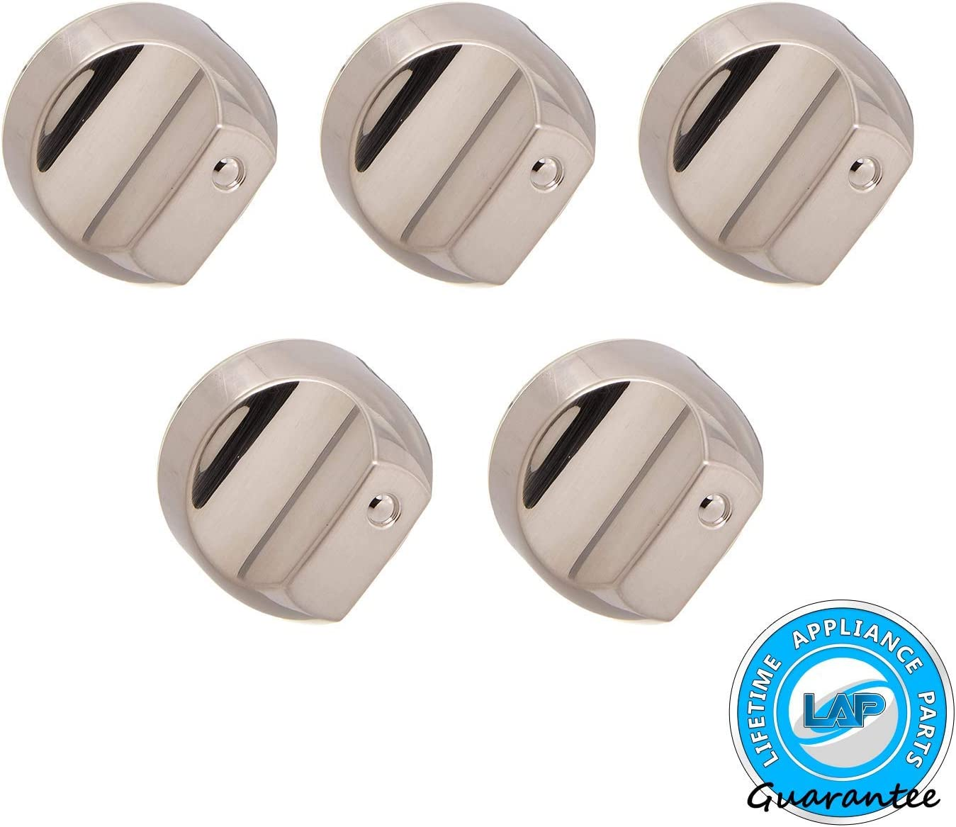 Lifetime Appliance 5 x WB03X25889 Knob Compatible with General Electric Stove/Range