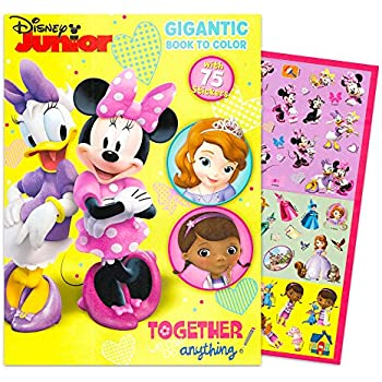 Disney Junior Gigantic Coloring Book For Girls With Stickers 224 Pages Featuring Sofia The First Minnie Mouse And Doc McStuffins