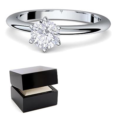 Verlobungsringe Weissgold Ring 585 Von Amoonic Mit Zirkonia