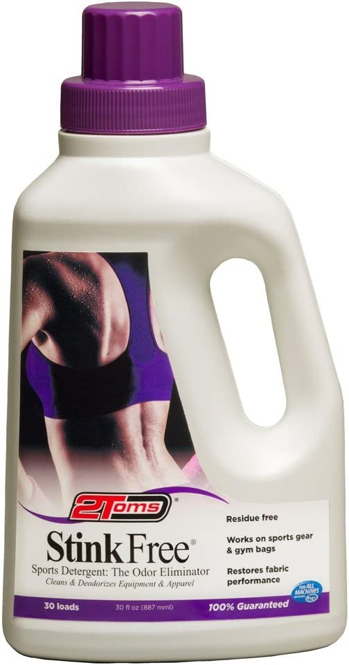 2Toms StinkFree Sports Laundry Detergent - Fragrance Free, Odor Eliminator for Athletic Clothes and Gear, 30 Ounce Bottle