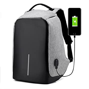 e1970b976e Anti-theft Business Travel Backpack Laptop Notebook Carmera Book School Bag  with USB Charging Port