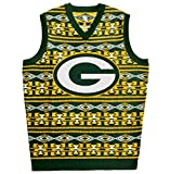 Green Bay Packers Aztec Print Ugly Sweater Vest Double Extra Large