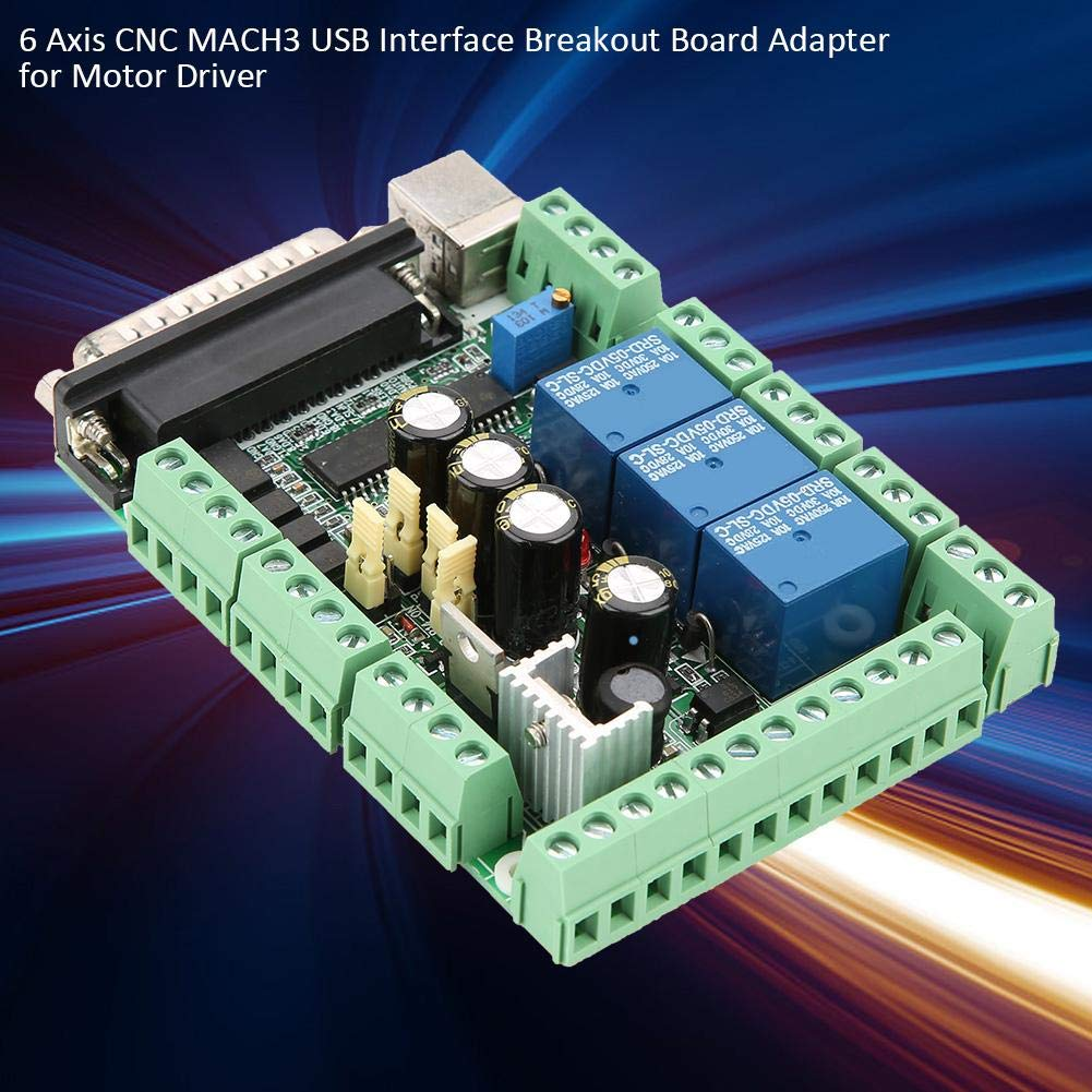 6 Axis CNC MACH3 USB Interface Breakout Board Adapter for Motor Driver Motor Driver