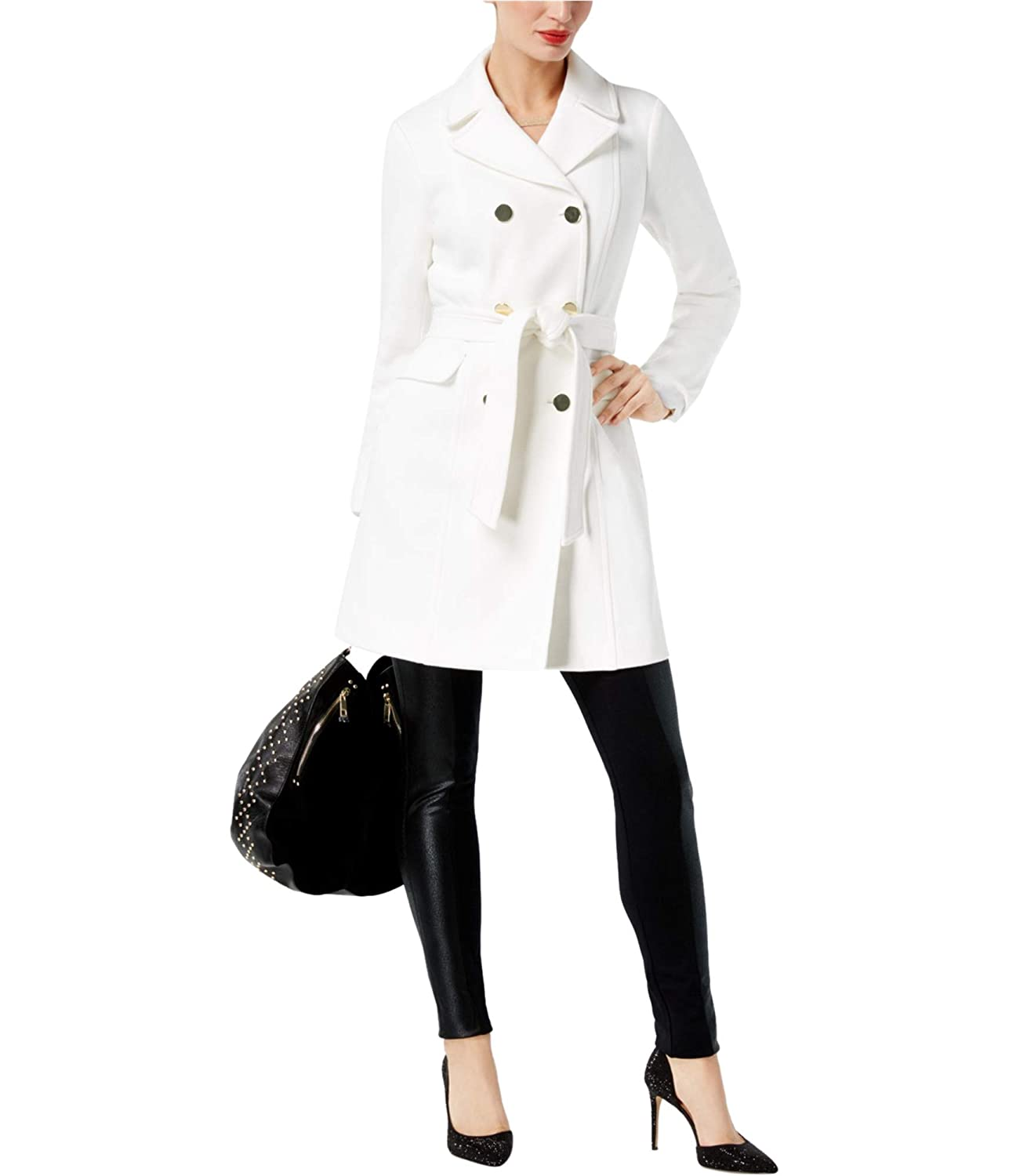 Washedwhite INC Womens DoubleBreasted Pea Coat