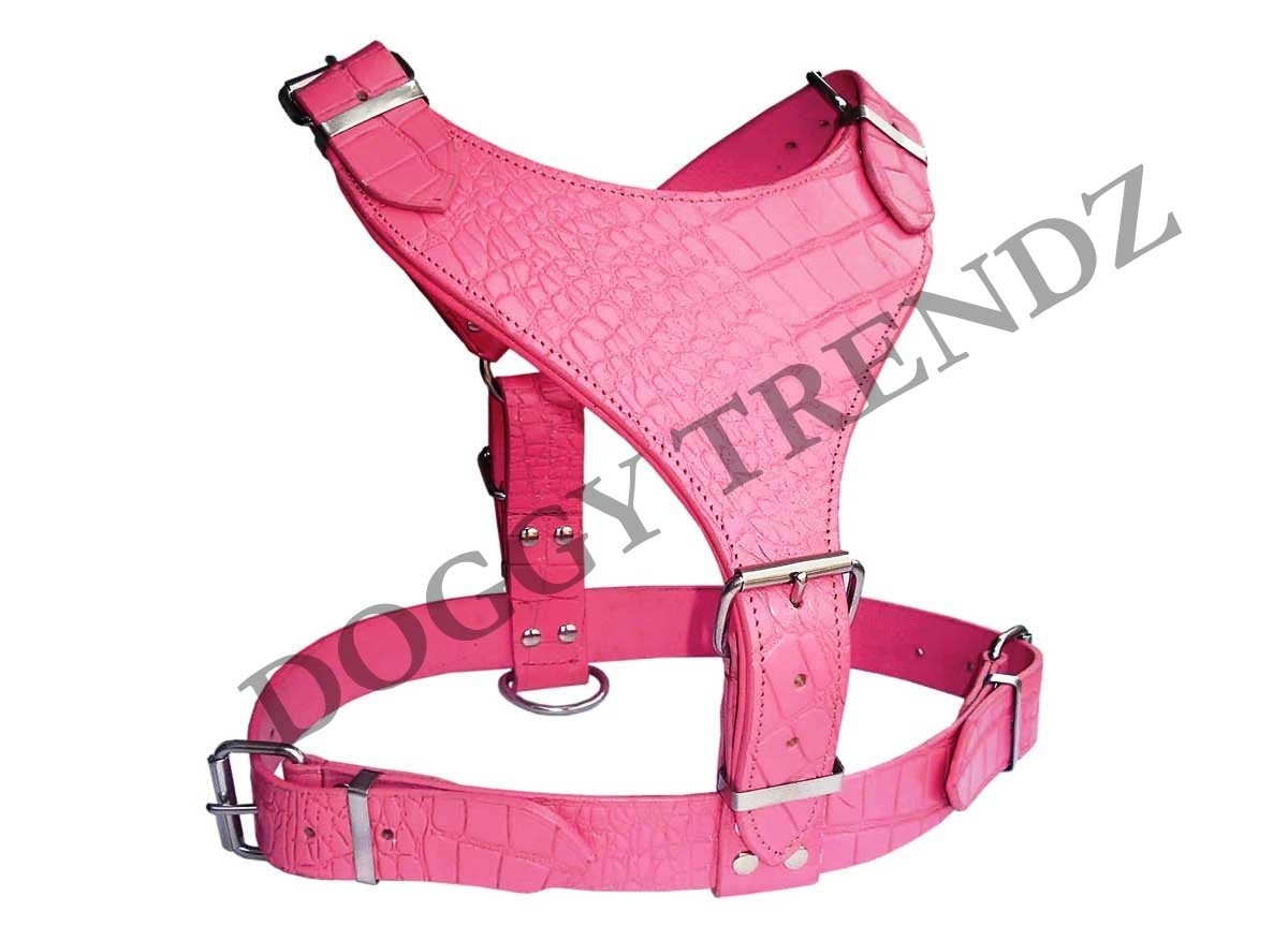 Inglés perro de cocodrilo en relieve de piel), color rosa Plain ...