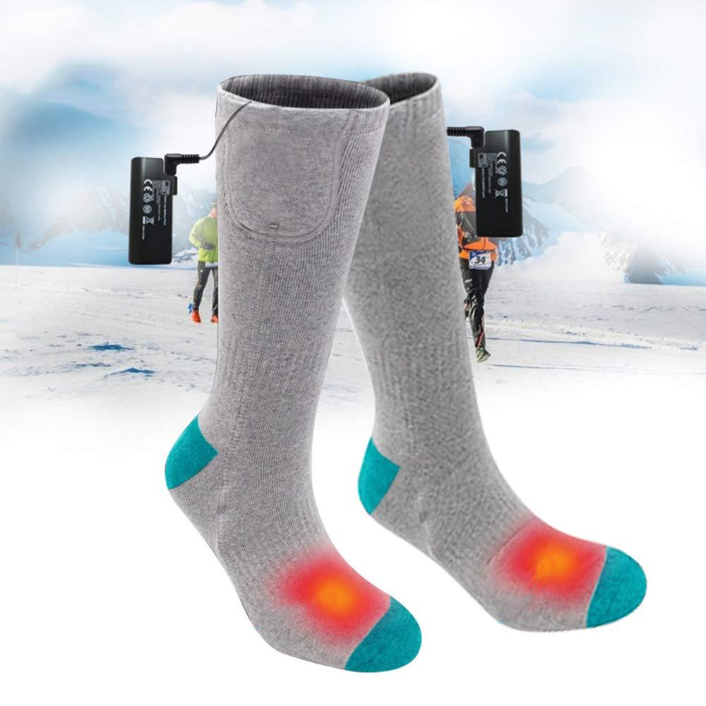 Lixada Calcetines T/érmicos El/éctrico Bater/ía Recargable Calcetines Calientes Invierno Tubo Alto para Pesca Esqu/í Caza