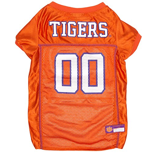 Clemson Tiger Cheerleader Costume (Pets First Collegiate Clemson Tigers Dog Mesh Jersey, X-Large)