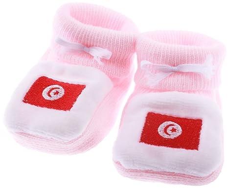 Chaussons bébé drapeau Tunisie NKPjJ2d