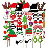 50 PCS DIY Photo Booth Props Hat Mustache Antlers Glasses Wedding Christmas Gift Party Fun Supplies