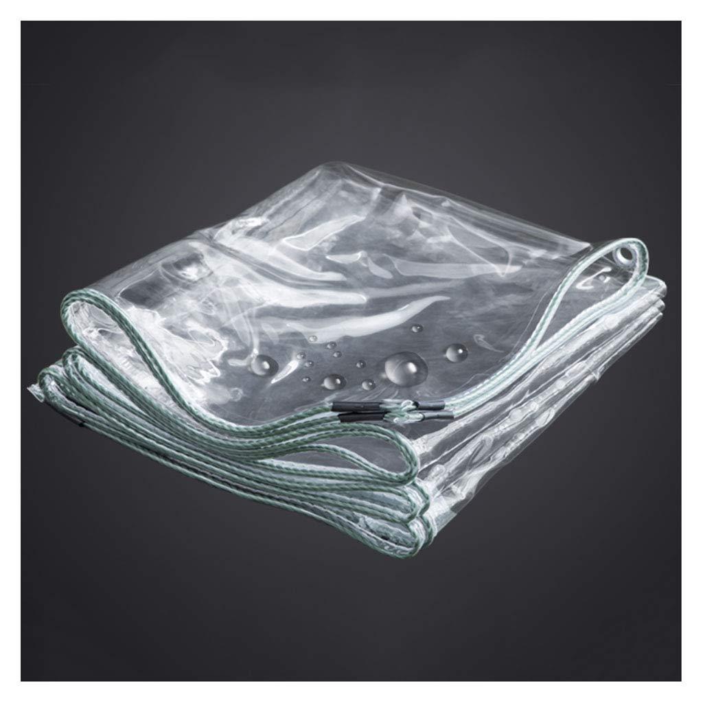 Telone Addensare Clear Tarp Impermeabile PVC Trasparente Plastica Shed Cloth Coperture in lamiera Effetto Serra Antivibranti Gommini 350 g m² (Spessore  0.3MM)