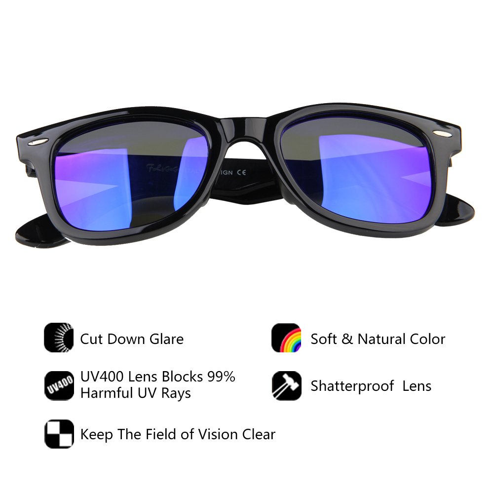 FLYGAGa Polarized Classic Retro Wayfarer Retro Sunglasses Driving Sunglassesfor Men Unisex
