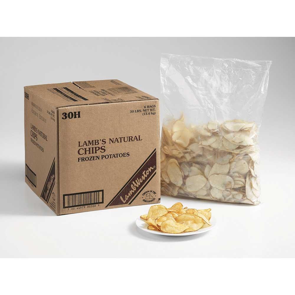 Lamb Weston Natural Potato Chips Fry, 5 Pound -- 6 per case.