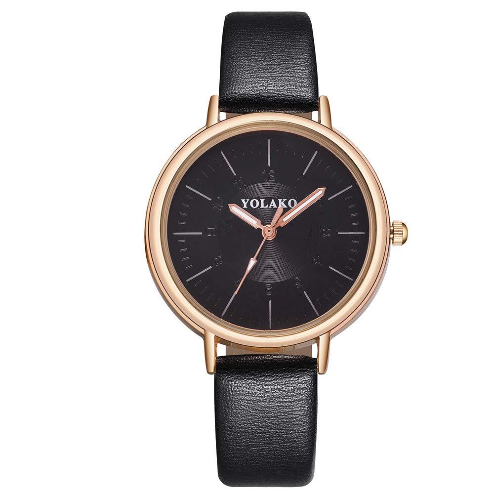 Clearance On Sale Watches,FRana Wrist Watch Retro Leather Band Luxury Fashion Leather Strap Analog Quartz Watch