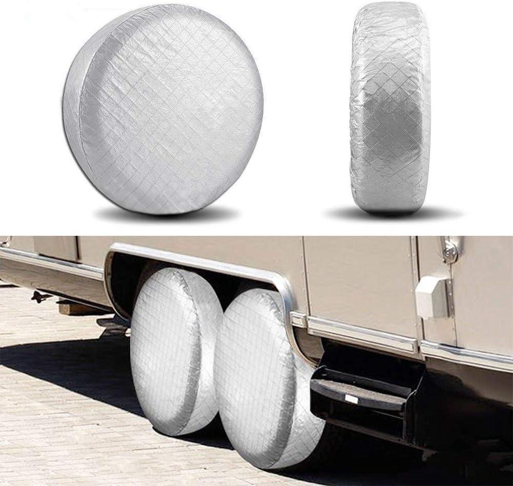 YBB cubiertas de aluminio que protegen los neum/áticos del sol y del agua Fundas para neum/áticos Set de 4