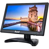 HDML Monitor Uphig 10 Zoll IPS LCD HD 1280x800 Monitor Video Audio HDMI VGA AV BNC Eingang für Haus Sicherheit Computer CCTV mit Lautsprechern