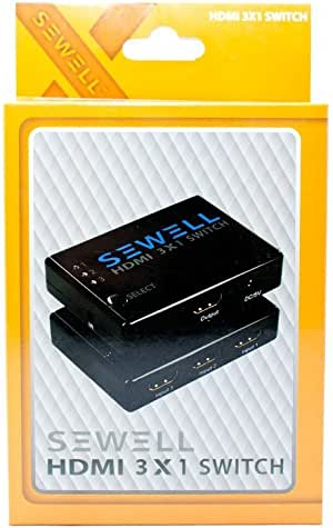 Sewell 3x1 HDMI Switch with Remote (1.3b Compliant)
