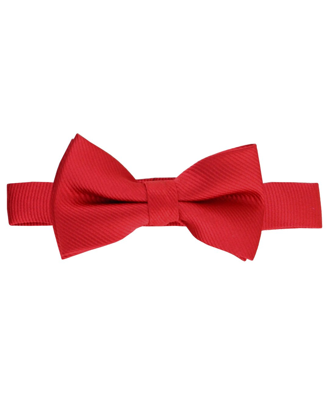 RuggedButts Little Boys Cute Bold Red baby and Toddler Bow Tie - 2T-5