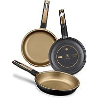 BRA Terra - Set de 3 sartenes, Aluminio Fundido, aptas para Todo Tipo de cocinas Incluido inducción