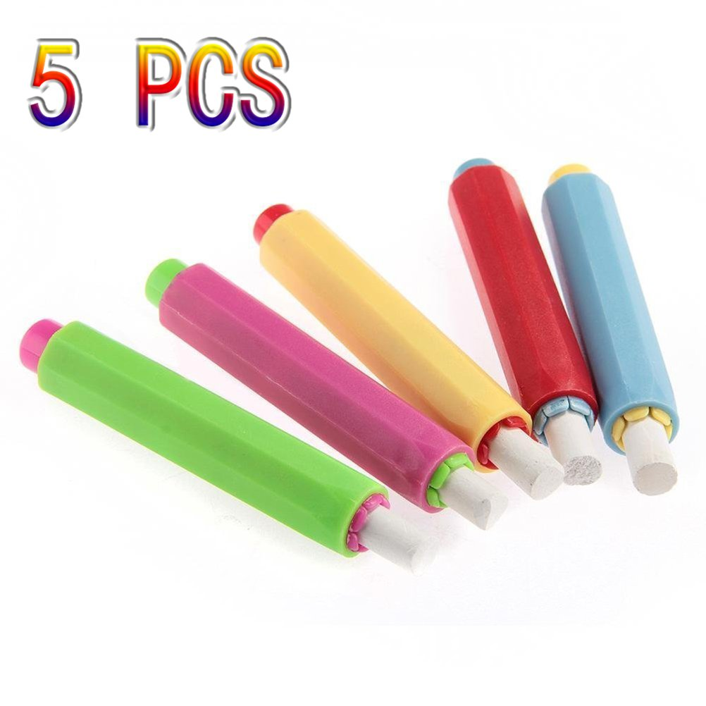 5 PCS YONGER Chalk Holder Case Cover for Plastic School Adjustable Replacement Chalk Cover