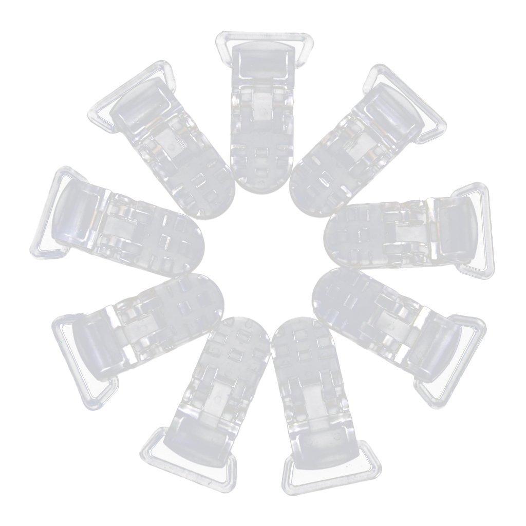 Wady resina badge ferma ciuccio ciuccio clip crafting Supplies 39x 16mm, confezione da 10, trasparente