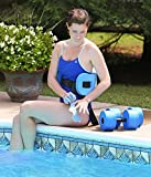Water Exercise Set - Aqua Fitness 5 Piece Water Workout Set - Water Aerobics Set - Includes Barbells, Webbed Gloves and Flotation Belt